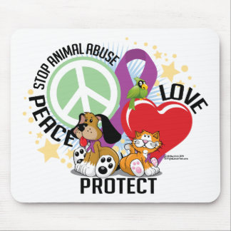 Stop Animal Abuse PLP Mouse Pad