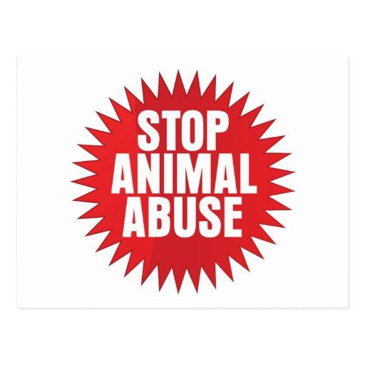 Stop Animal Abuse Postcard