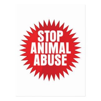 Stop Animal Abuse Postcard