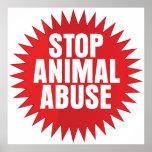 Stop Animal Abuse Poster