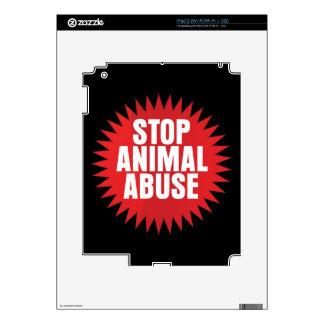 Stop Animal Abuse iPad 2 Skins