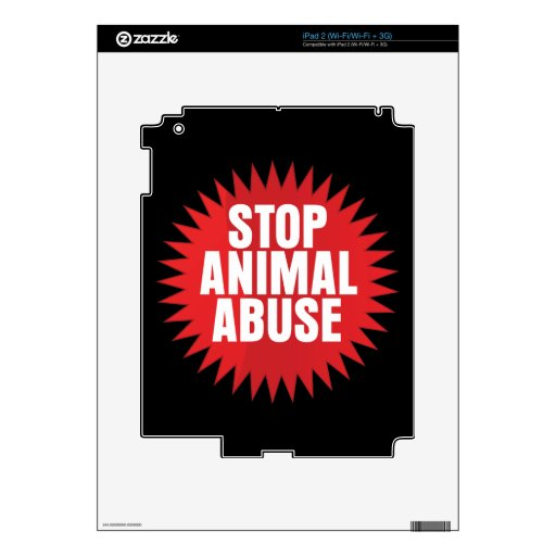 Stop Animal Abuse Skin For The iPad 2
