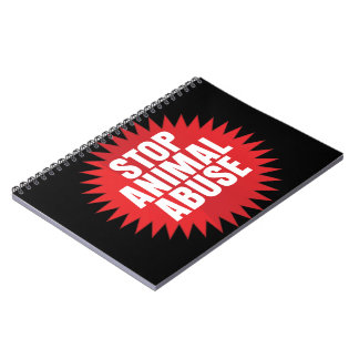 Stop Animal Abuse Spiral Notebook