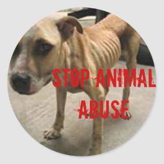 Stop Animal Abuse sticker