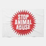 Stop Animal Abuse Towel