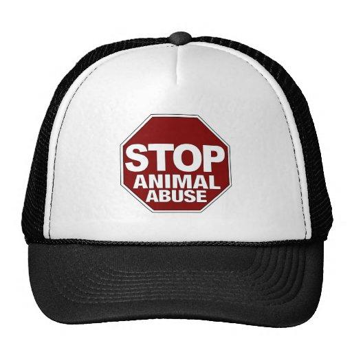 Stop Animal Abuse Trucker Hats