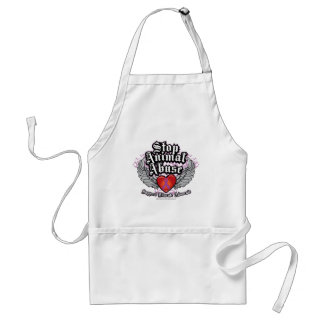 Stop Animal Abuse Wings Adult Apron