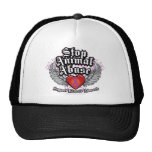 Stop Animal Abuse Wings Hats