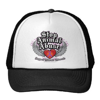 Stop Animal Abuse Wings Trucker Hat