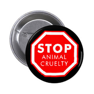 Stop Animal Cruelty 2 Inch Round Button