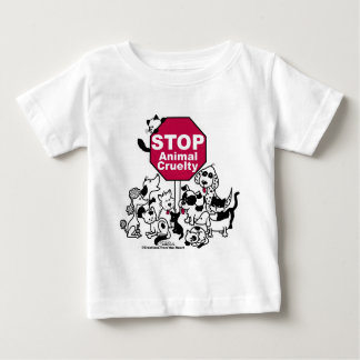 Stop Animal Cruelty Baby T-Shirt