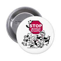 Stop Animal Cruelty Button