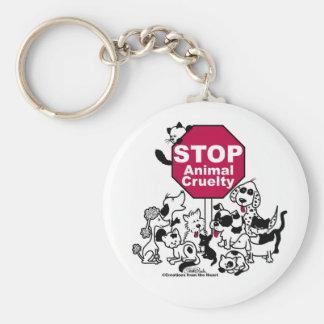 Stop Animal Cruelty Keychain