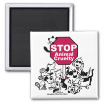 Stop Animal Cruelty Magnet