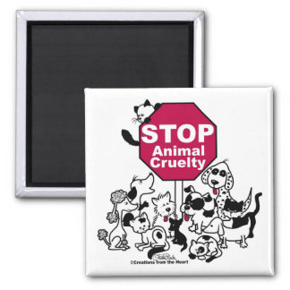 Stop Animal Cruelty Magnet