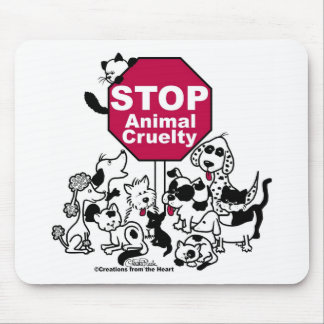 Stop Animal Cruelty Mouse Pad