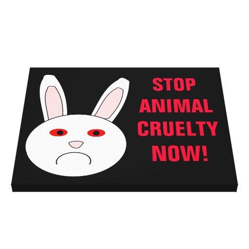Stop Animal Cruelty Now Canvas Print