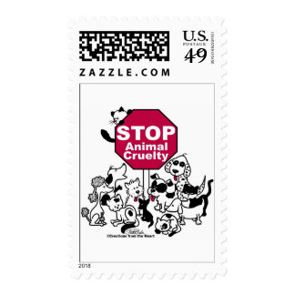 Stop Animal Cruelty Postage