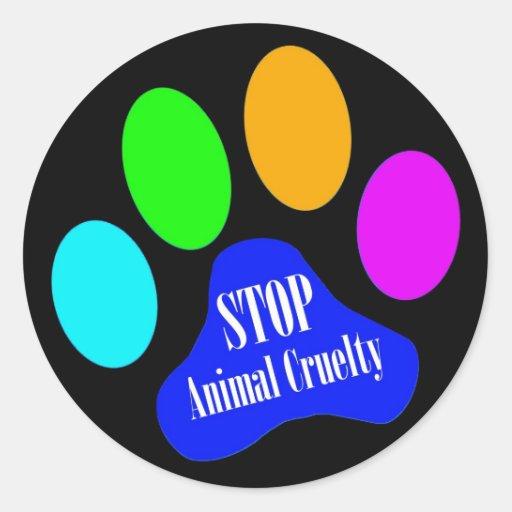 Stop Animal Cruelty Stickers (black)