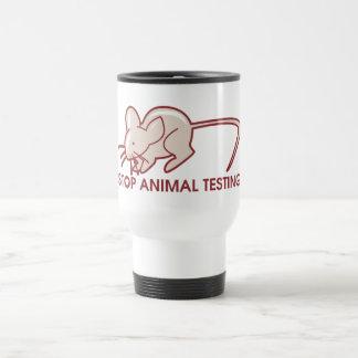Stop Animal Testing 15 Oz Stainless Steel Travel Mug