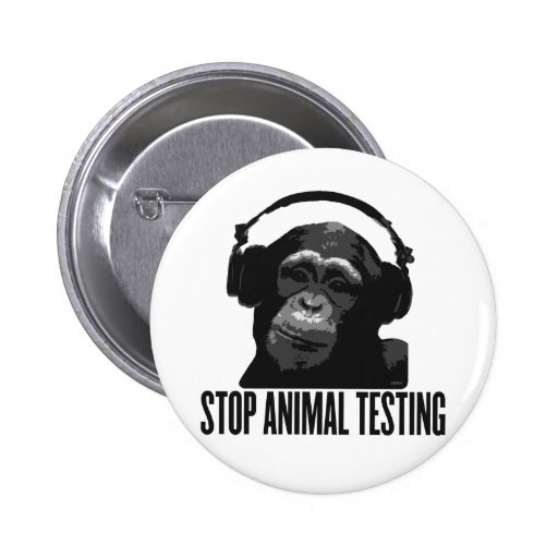 stop animal testing 2 inch round button
