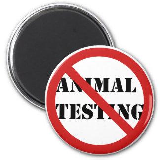 stop animal testing 2 inch round magnet