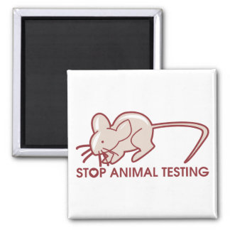 Stop Animal Testing 2 Inch Square Magnet