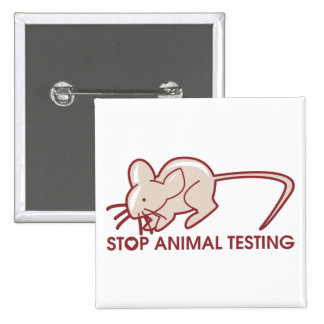 Stop Animal Testing 2 Inch Square Button