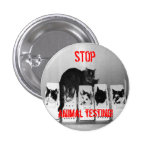 """""""STOP Animal Testing!"""" Cats button pin"""