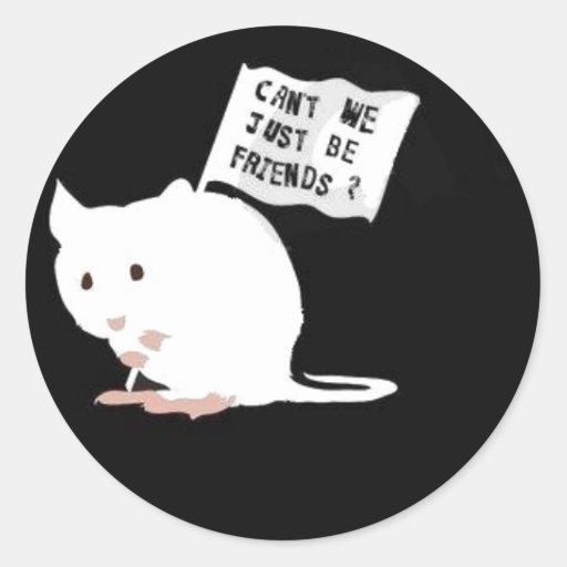 Stop Animal Testing! Classic Round Sticker