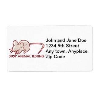 Stop Animal Testing Shipping Label