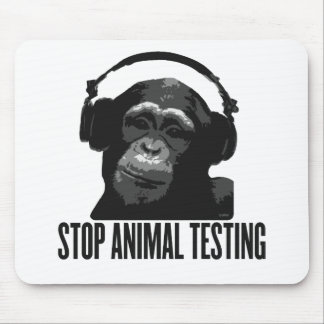 stop animal testing mouse pad