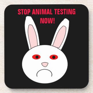 Stop Animal Testing Now Cork Coaster