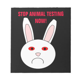 Stop Animal Testing Now Notepad
