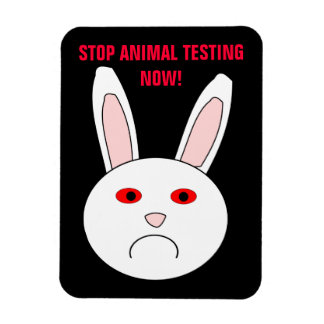Stop Animal Testing Now Premium Magnet