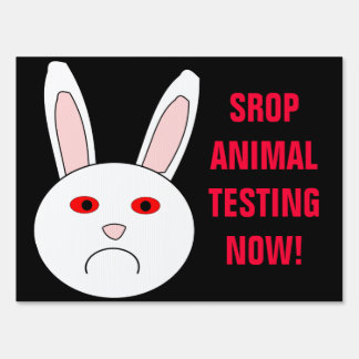 Stop Animal Testing Now Sign