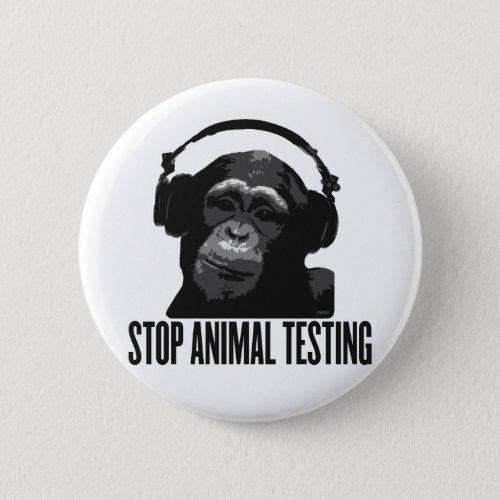 stop animal testing pinback button