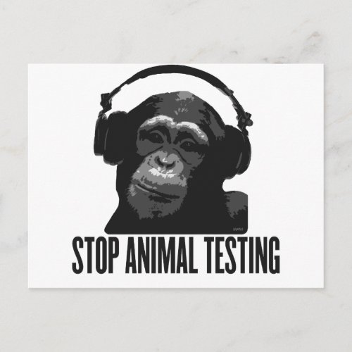 stop animal testing postcard