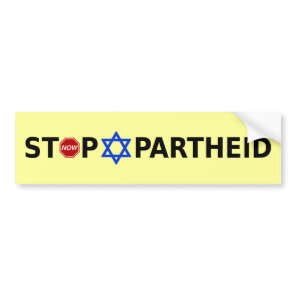 Stop Apartheid Bumper Sticker