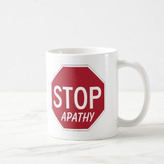 STOP APATHY COFFEE MUG