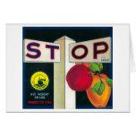 Stop Apple Crate LabelCutler, CA