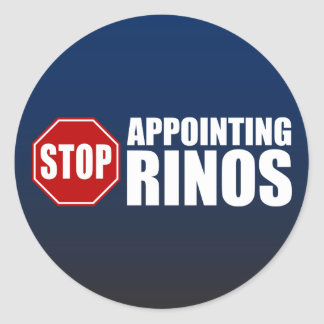 Stop Appointing RINOs Classic Round Sticker