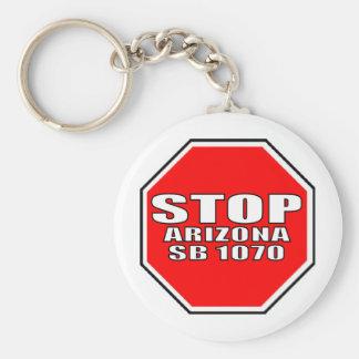 STOP ARIZONA SB 1070 KEYCHAIN