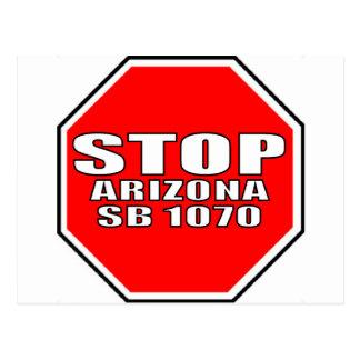 STOP ARIZONA SB 1070 POSTCARD