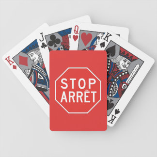 Stop/Arret, Traffic Sign, Canada Bicycle Playing Cards