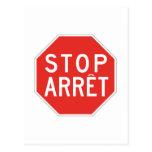 Stop/Arret, Traffic Sign, Canada Postcard
