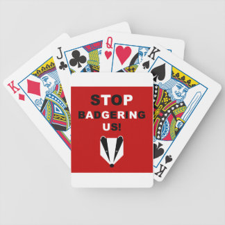 STOP BADGERING US (badger cull protest) Bicycle Poker Cards
