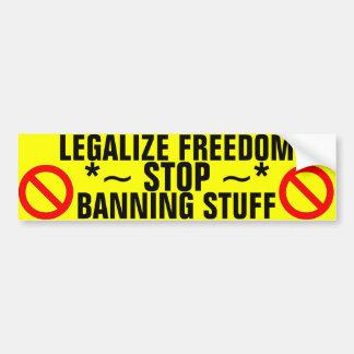 Stop Banning Stuff Bumper Sticker