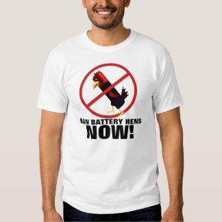 Stop battery hen farming t shirt