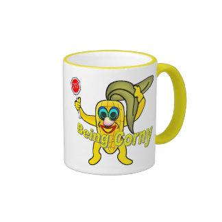 Stop Being Corny Ringer Mug